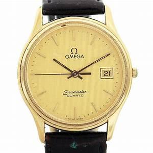 Vintage Omega Seamaster Goldtone Quartz Wristwatch 1430