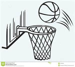 Basketball and Hoop Drawing