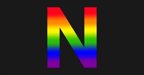 rainbow letter  rainbow magnet teepublic