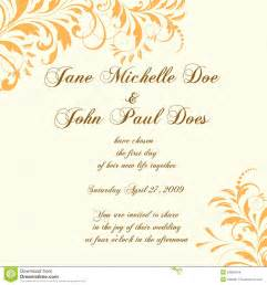 invitation wedding card wedding card or invitation with abstract floral ba large and small fonts with brown colors and
