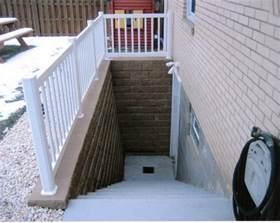 Exterior Basement Stairs basement entrance drain where does it go doityourself