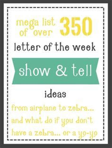 show and tell letter x 100 show and tell ideas pre school activities 45355