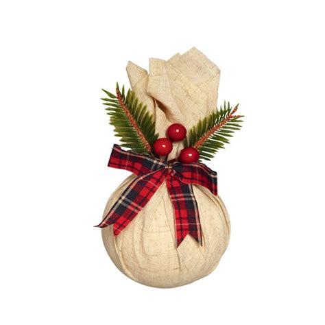 linen effect bauble christmas decoration  marks