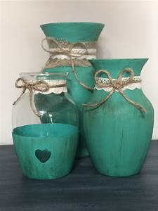 Vases, Painted, With, Chalkpaint, And, Sealed, With, Wax