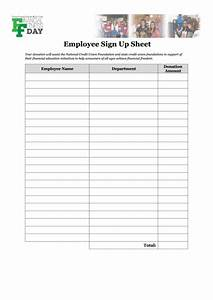 Sign Up Sheet Template Pages Fillable Employee Sign Up Sheet Template Printable Pdf