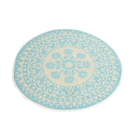 tapis rond  cm anoki bleu clair tapis eminza