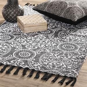 Tapis D Extérieur Maison Du Monde : tapis en coton noir 60 x 90 cm palerme maisons du monde ~ Dailycaller-alerts.com Idées de Décoration