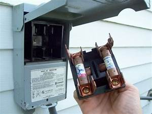 Central Air Conditioner Fuse Box