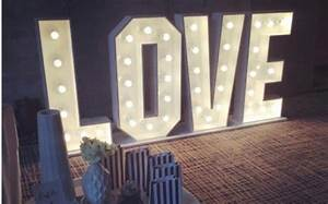 love letter custom made light up letters With custom light up letters