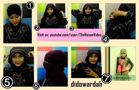 tutorial jilbab  hijaber indonesia model jilbab  wajah bulat  pipi chubby