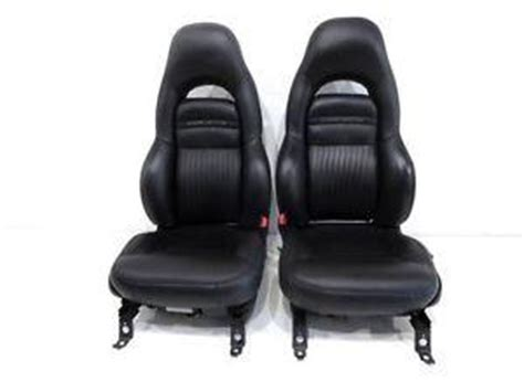 replacement chevy corvette black oem leather sport