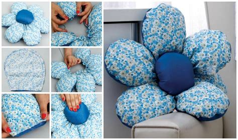 beautiful flower shaped diy cushion beesdiycom