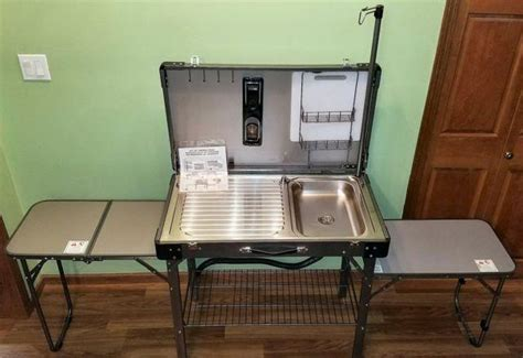 deluxe portable fold  camping kitchen sink table