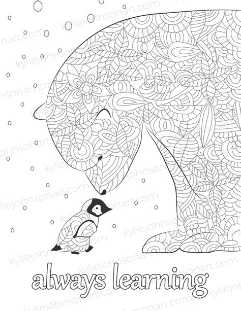 mindfulness colouring  affirmations kylie johnson art