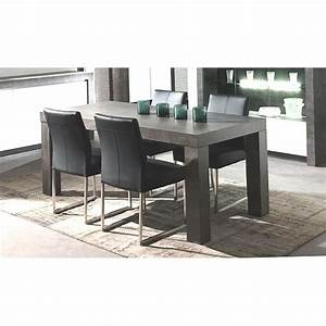 table de repas effet beton 39colora39 achat vente table With table a manger effet beton