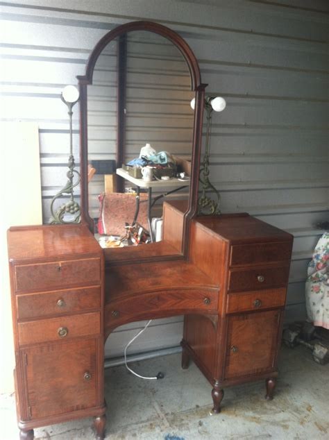 antique vanity with mirror value vintage deco vanity 1920s for