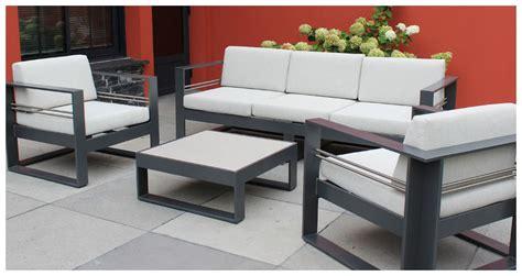 Brisbane - Salon de jardin en aluminium laquu00e9 anthracite | Jardin-Center.fr