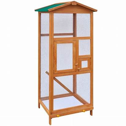Bird Cage Wood Indoor Aviary Parrot Cages