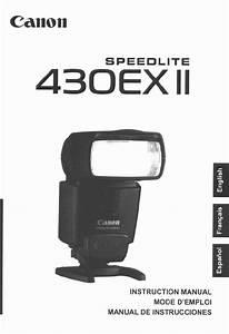 Canon Speedlite 430ex Ii Manual Pdf  U0026gt  Dobraemerytura Org
