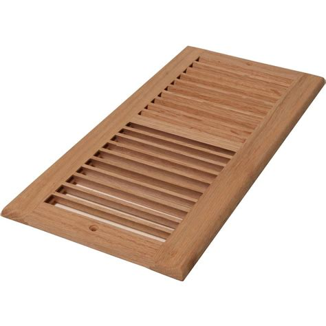 Decorative Cold Air Return Grilles by Decor Grates 6 In X 14 In Wood Unfinished Oak Louvered