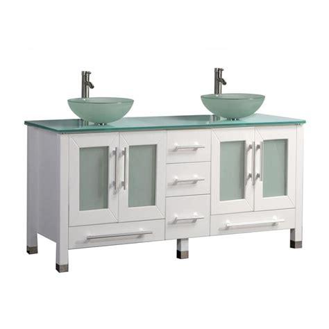 white vanity top for vessel sink shop mtd vanities white double vessel sink bathroom vanity