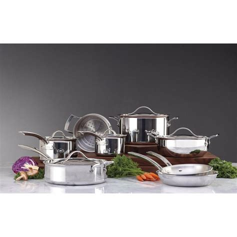 kirkland signature  pc tri ply clad stainless steel induction cookware set  ebay