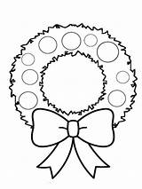 Wreath Coloring Pages Christmas Printable Advent Drawing Holiday Recommended Getdrawings Colors sketch template