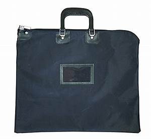 briefcase style locking document bag navy With lockable document bag