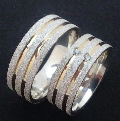 pena metal par alianças namoro 7mm prata 950 2 filetes ouro 18k r