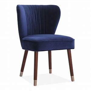 Blue Velvet Upholstered Noa Accent Chair Luxury