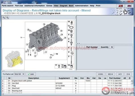 automotive service manuals 2012 bmw x5 spare parts catalogs bmw etk spare parts catalog prices 09 2016 full instruction auto repair manual forum