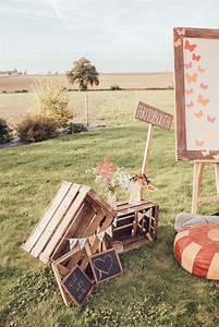 Decor Photobooth Mariage : caisses en bois et espace photobooth mariage champ tre vintage bapt me f licia ~ Melissatoandfro.com Idées de Décoration