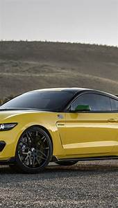 Download wallpaper 800x1420 ford, mustang, gt350, shelby, yellow iphone se/5s/5c/5 for parallax ...
