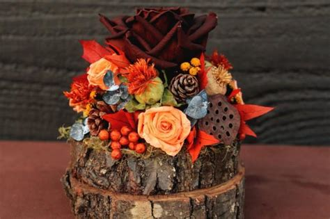 rustic autumn wedding cake topper woodland cake topper
