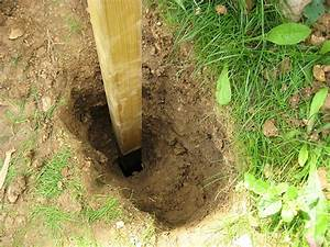 Comment Fixer Un Poteau Bois Au Sol : soutenement en bois on vera si ca tient au jardin ~ Dailycaller-alerts.com Idées de Décoration