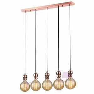 Suspension Ampoule Vintage : suspension oros cuivre barre 5 lumi res ampoule e27 592653 market set ~ Teatrodelosmanantiales.com Idées de Décoration