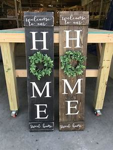 Home, Sign, With, Wreath, U2013, Signs, By, Caitlin