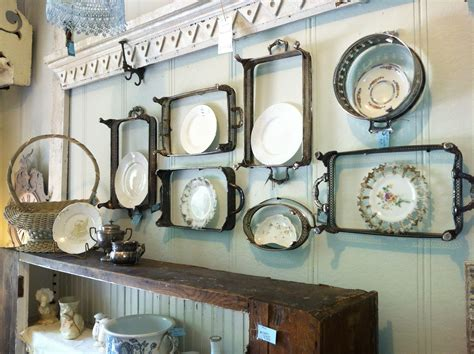 vintage silver casserole dish holders repurposed  plate rack frames upcycle recycle
