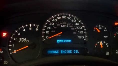 reset  change oil light   chevy truck youtube
