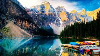 Canada Summer Rockies Canadian Lake Moraine Peak