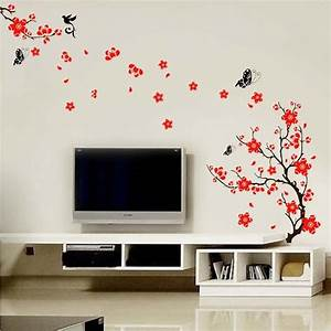 Blossom flowers tree wall stickers mural art decal self