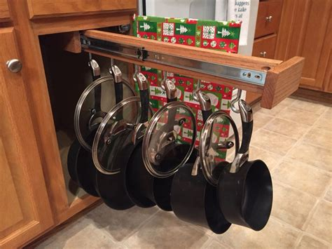 Make Your Own Sliding Pots And Pans Rack!
