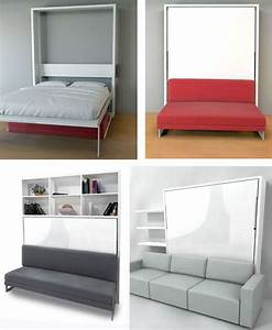 murphy wall bed couch combo with a sofa in front With wall bed and sofa