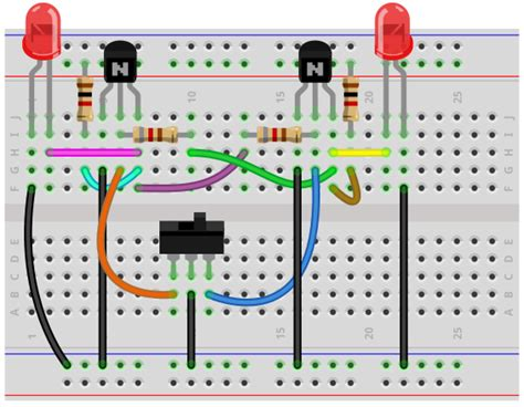 How Build Bistable Multivibrator Circuit With Transistors