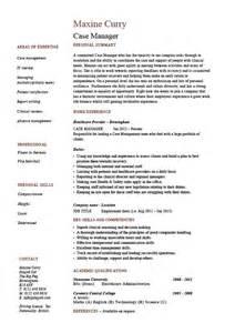 resume objective statement for restaurant management sle case manager resume the best letter sle