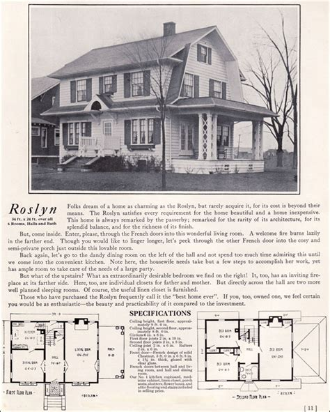 dutch colonial revival roslyn kit houses bennett homes north tonawanda ny