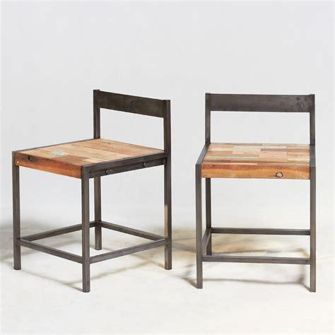 chaise bois et fer chaise industrielle fer et boisen vente chez orign 39 s maison