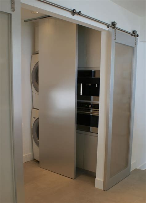 Hung Closet Doors by Top Hung Sliding Door Spaces Modern With Custom Designed