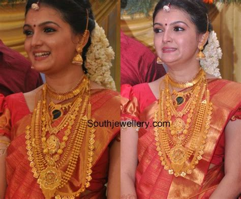 saranya mohans wedding jewellery indian jewellery designs