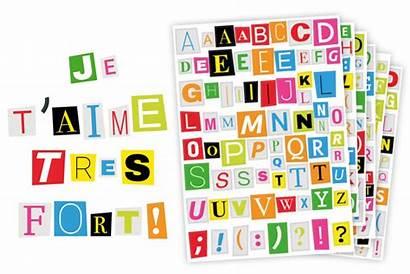 Lettres Magazine Gommettes Journal Alphabet Bullet Planner